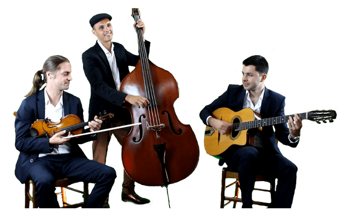 Groupe jazz swing manouche pour mariage cocktail